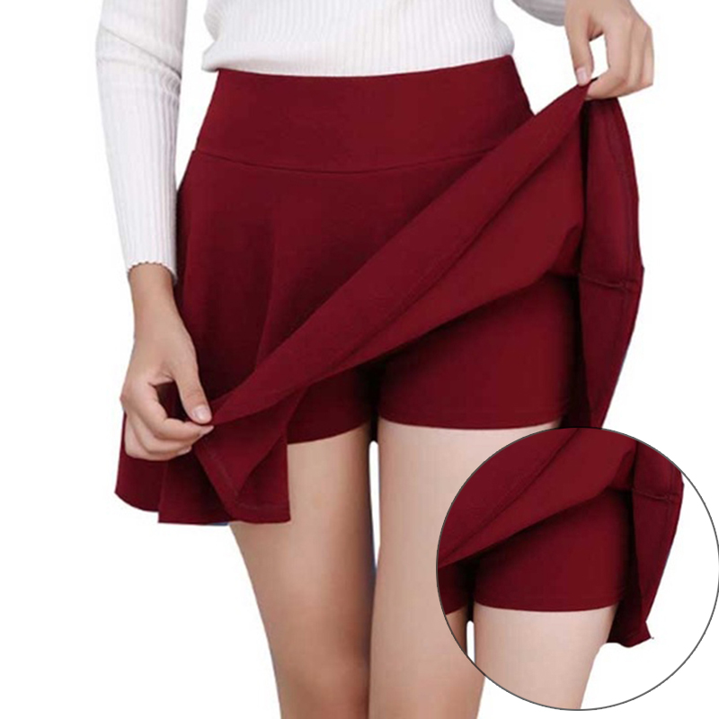 Women Fake 2 Pieces Skirt Sexy Summer Skirt  Version Short Skater Fashion Female Mini Skirt Women Clothing Bottoms Plus Size