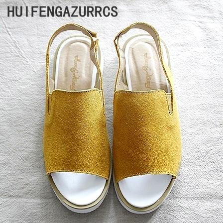 Nové 2017 jaro / léto, Retro umělé kožené rybí ústa sandály, - Dámské boty