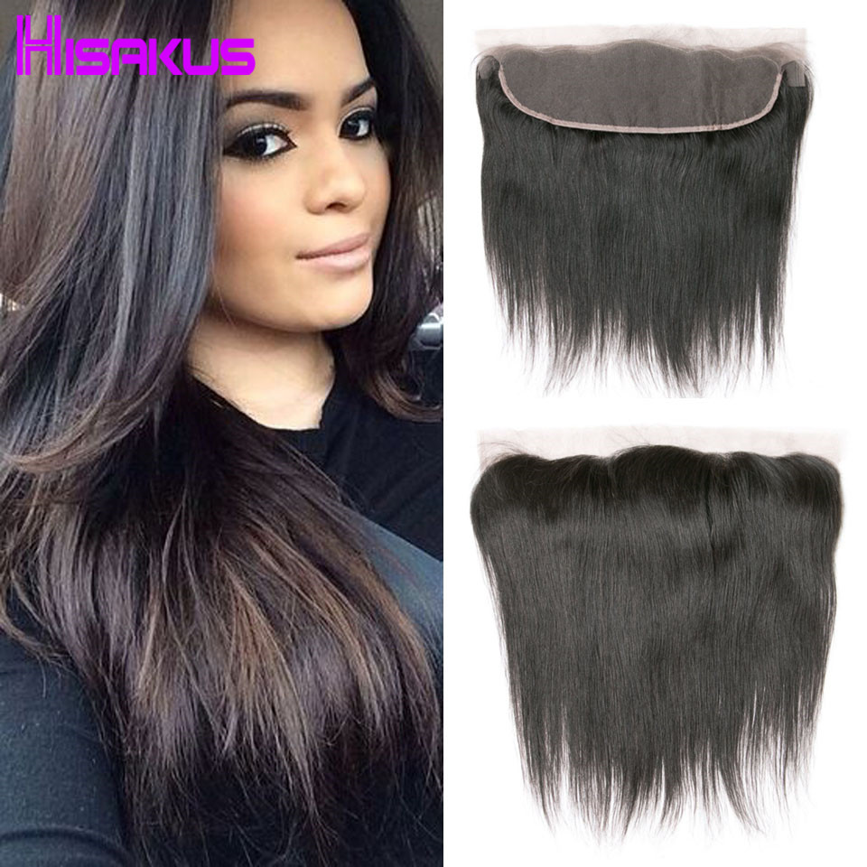 ФОТО Peruvian Virgin Hair Straight Lace Frontal Closure Lace Frontals 13x4 Ear To Ear Lace Frontal With Baby Hair Human Hair Weave 7a