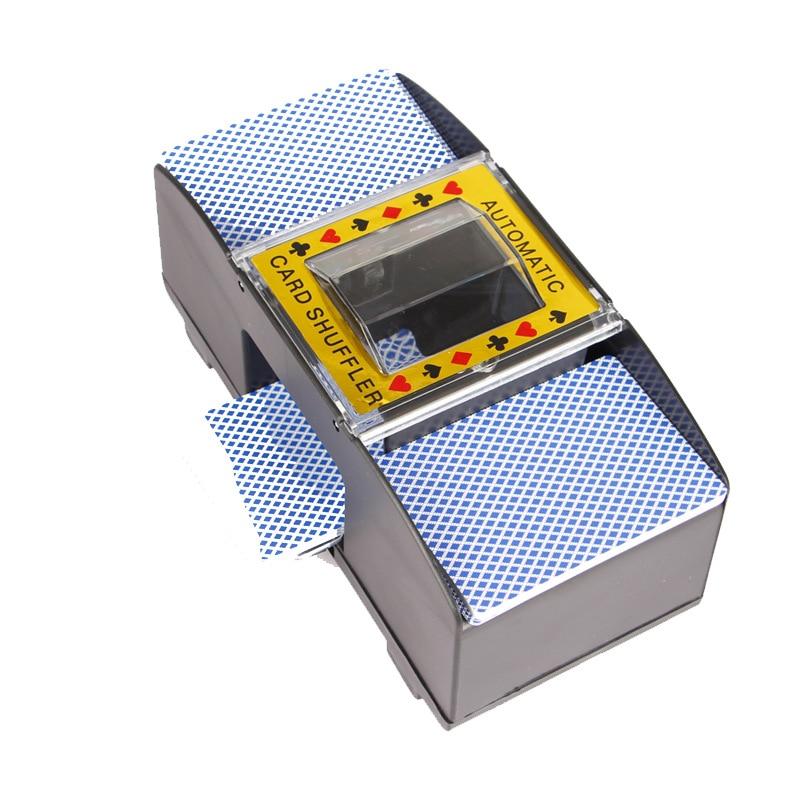 2 Deck Automatic Card Shuffler Casino Dealer Battery-Operated Electric Shuffler