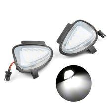 2 pçs ajuste direto branco led sob espelho lateral poça luzes para vw gti para golf mk6 6 mkvi c45