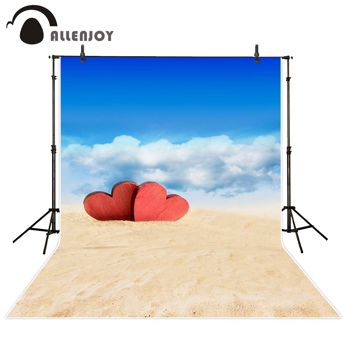 Allenjoy photography backdrops love desert romantic blue sky background photography backdrop for photo studio 10*20ft allenjoy photography backdrops love pink romantic background photography wedding backdrop for valentine s day