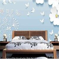 Papel de pared de estilo chino 3D papel de pared de foto personalizado flores pájaros imágenes murales para sala de estar pared de fondo decoración del hogar