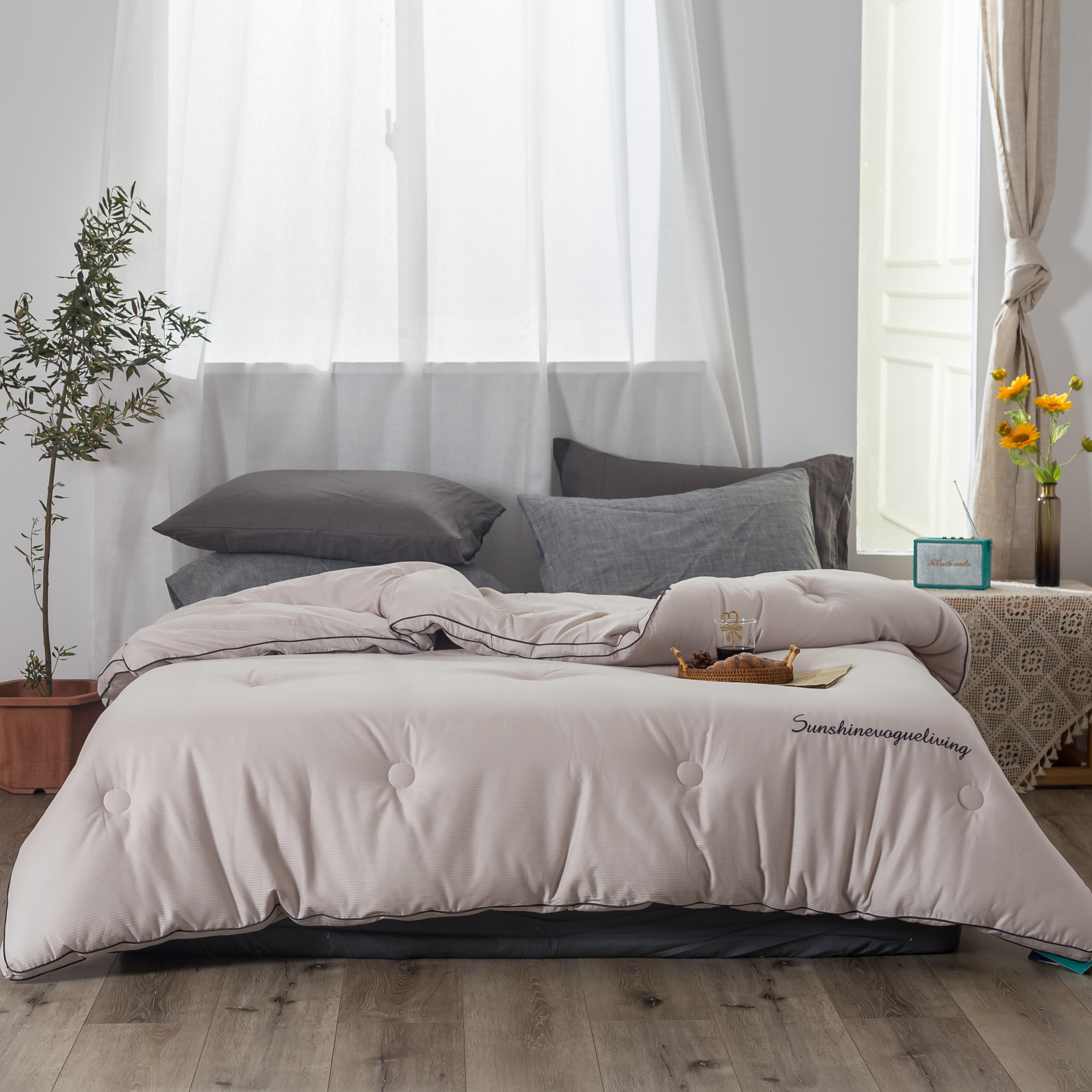 Blancstar Winter Silk Quilt 100 Cotton Comforter Cotton Cover Pink Duvet Filling Comforter Blanket in Quilts from Home Garden