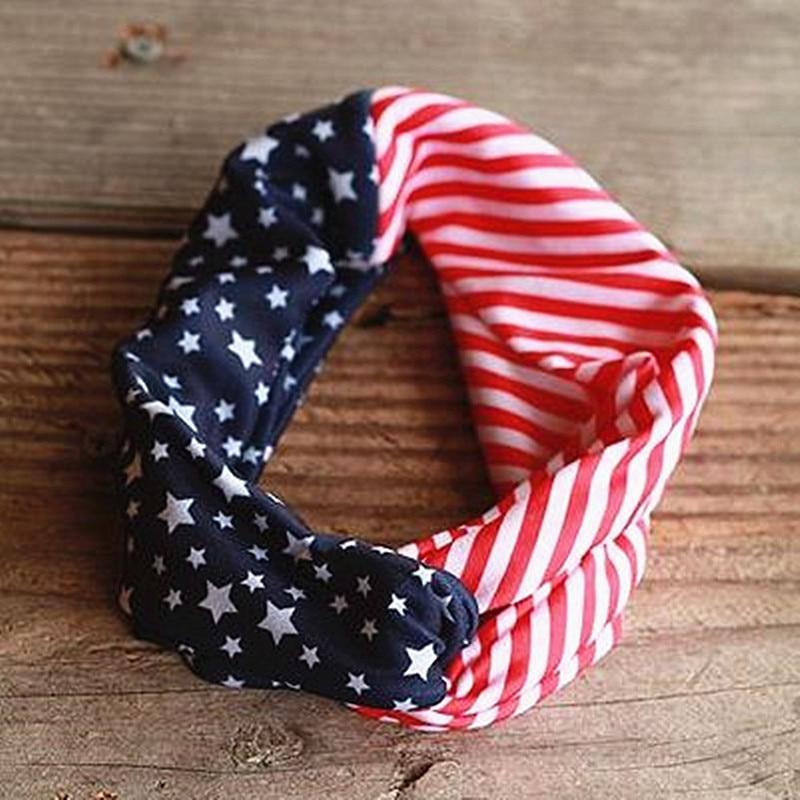 USA seller American Flag Turban Twisted Headband American Flag Headband