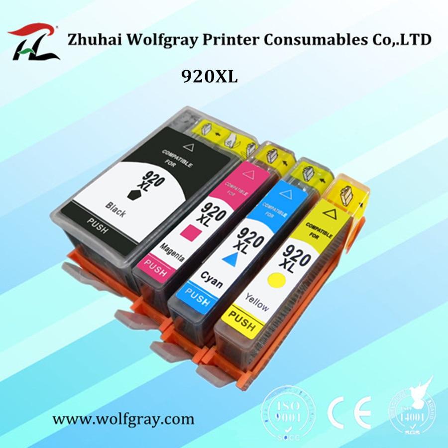 4 piezas 920 cartucho de tinta compatible para HP 920XL para HP920 Officejet 6000 6500 6500A 7000 7500 7500A impresora con chip