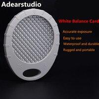 Adearstudio Weißabgleich Karte Filter Asche 18 Mennon 55mm Benutzerdefinierte Weiß Balance WB Objektivdeckel Ersetzen Grau Karte für DSLR Kamera d50