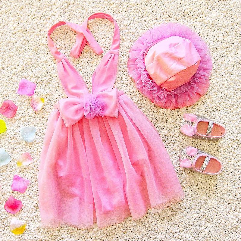 2018 New Toddler Infant Child Kids Baby Girl Rainbow Stripe Swimsuit Swimwear Bathing Suit Beachwear swimming hat