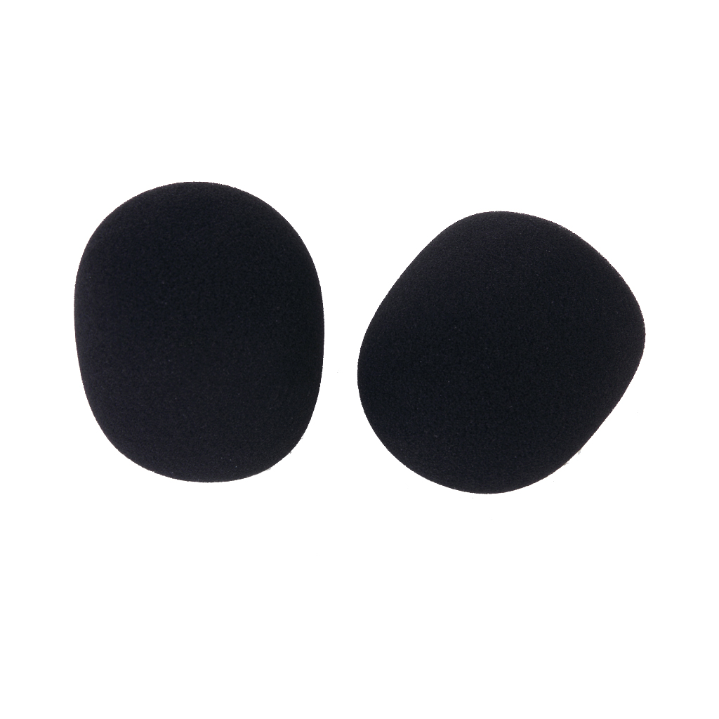 2 pcs studio microphone foam mic shield cover black in microphones from consumer electronics on. Black Bedroom Furniture Sets. Home Design Ideas