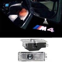 2X LED Car Door Courtesy Laser Projector Logo Ghost Shadow Light For BMW M4 Power Logo