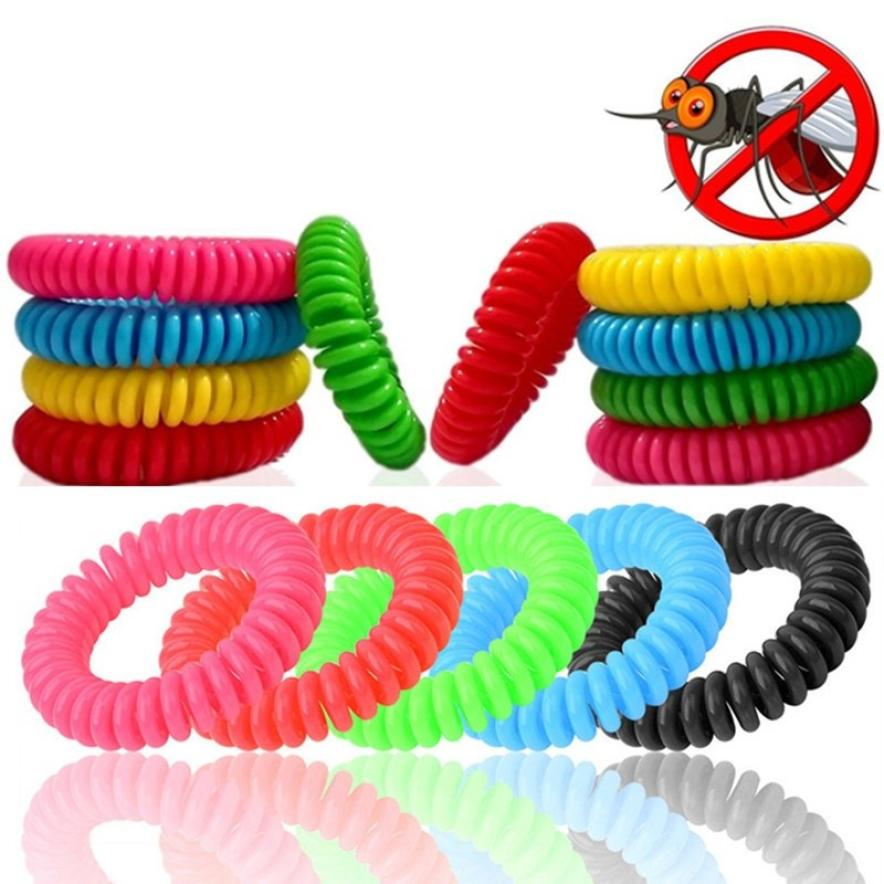 10pcs Anti Mosquito Repellent Bracelets Multicolor Pest Control Bracelets Insect Protection Camping Outdoor Adults Kids 18July19(China)