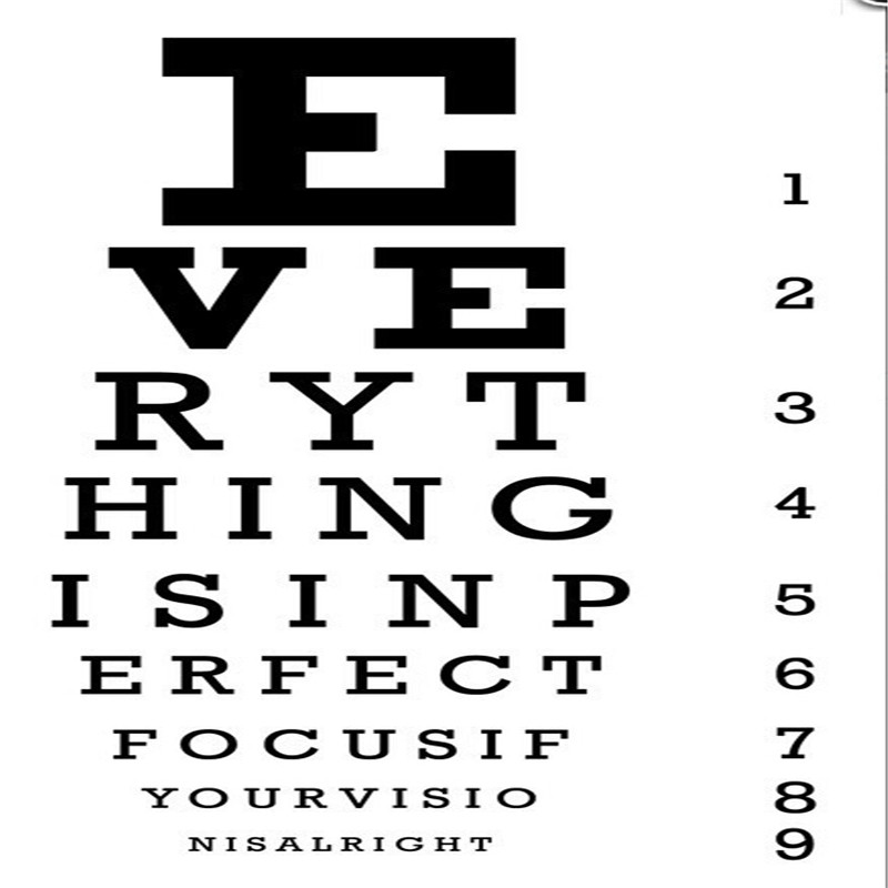 Cool Vision Test Vinyl Wall Decals Wall Stickers For