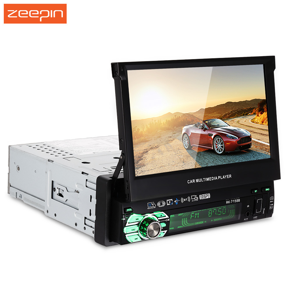 Zeepin Universal 7158B 7 inch HD Touch Screen AM and FM Stereo Radio Car Multimedia Player
