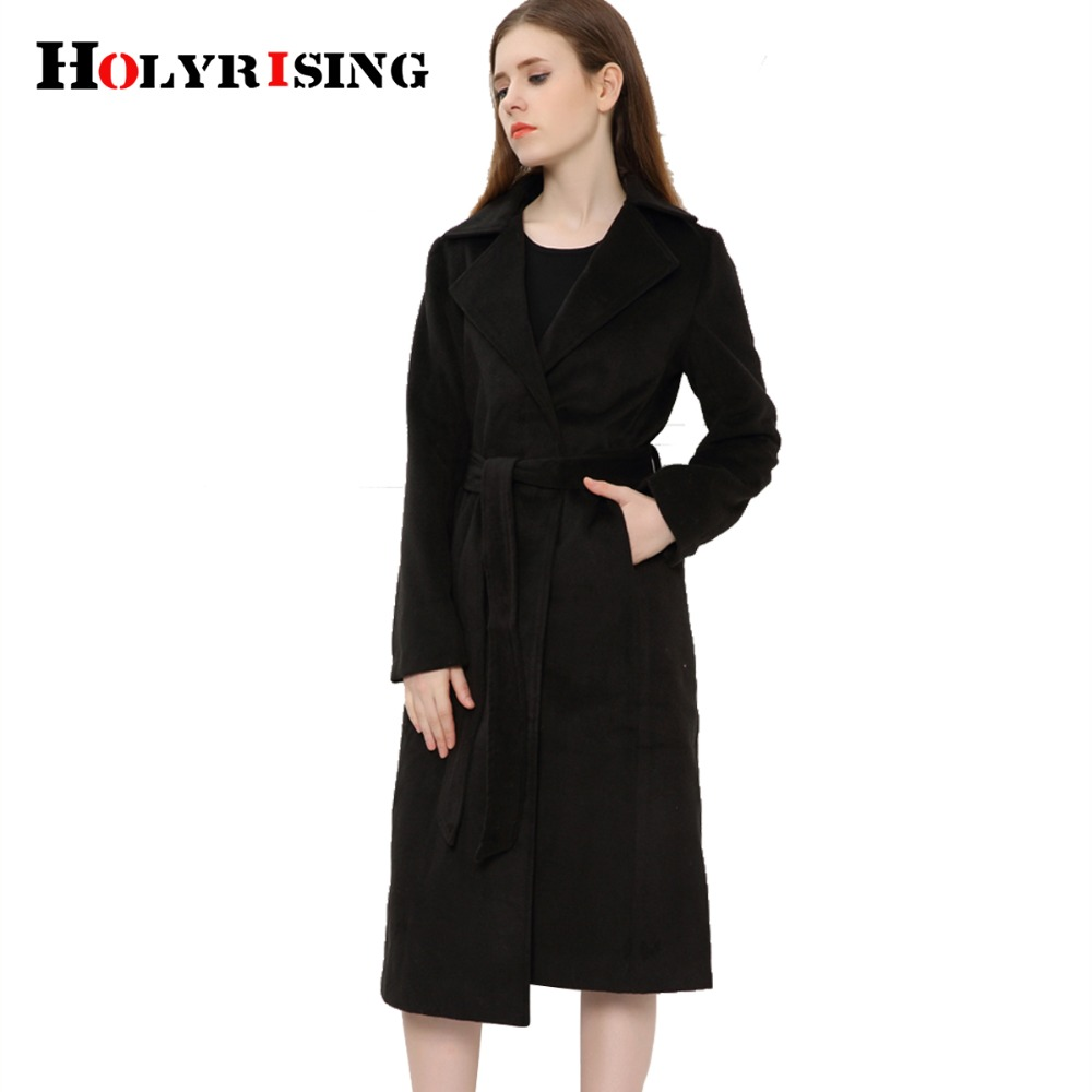 Aliexpress.com : Buy casaco feminino inverno wool black coat long ...