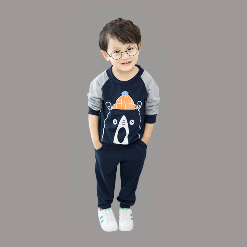1da08d9ef US $4.99 |Spring Autumn Baby Boys Clothes Full Sleeve T shirt And Pants  2pcs Cotton Suits Children Clothing Sets Toddler Brand Tracksuits-in  Clothing ...