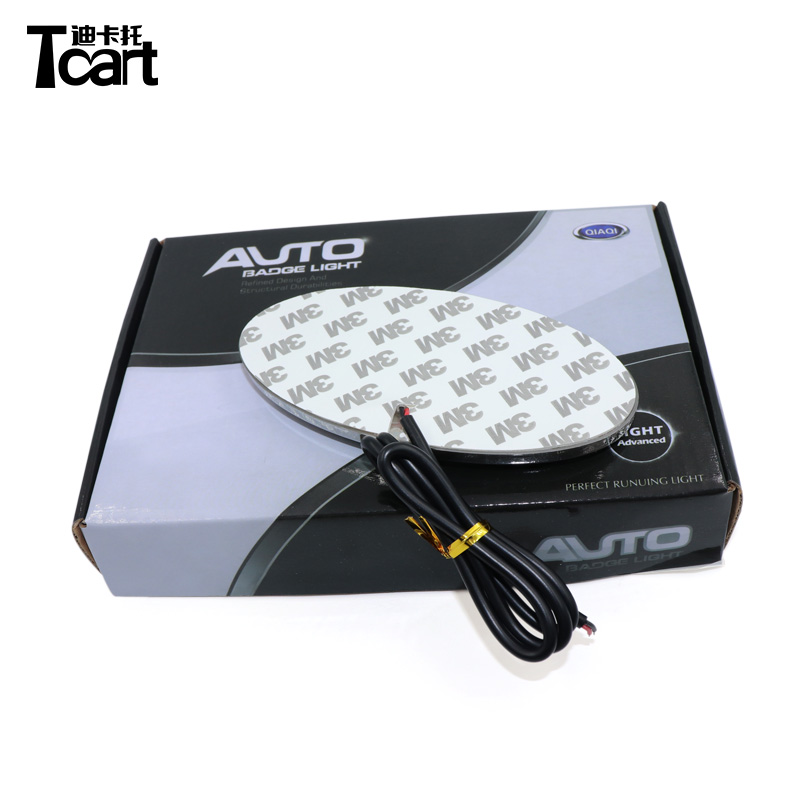 Tcart 13x6.5 cm 4D Emblem Logo Light Light led car light for Kia Rio K2 Sportage Sorento Optima Forte Cerato Carens Picanto image