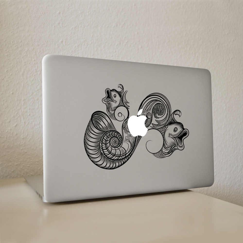 Mở miệng răng tiếp xúc với cá Kền Kền phong cách Vinyl Decal Máy Tính Xách Tay Sticker đối với New Macbook Pro Air 11 13 15 inch Máy Tính Xách Tay Da