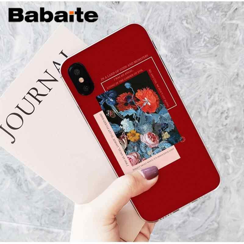 Babaite милый и свежий цветок Эстетическая Девушка Летний чехол для телефона для iPhone8 7 6 6S 6plus X XSMAX 5 5S SE XR 10 11 11pro 11promax