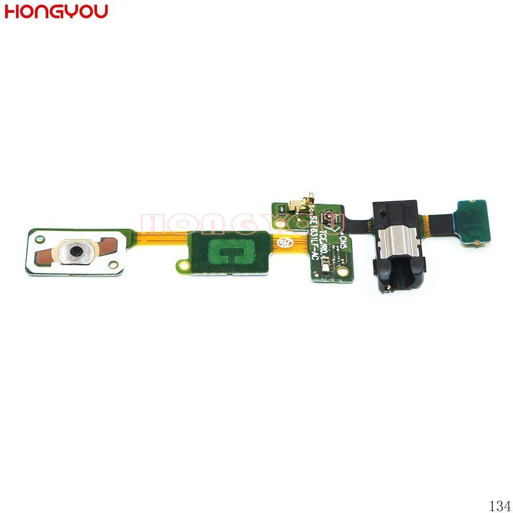 Home Button Return Key Sensor Earphone Audio Jack Headphone Socket Flex Cable For Samsung Galaxy J5 Prime  On5 2016 G570