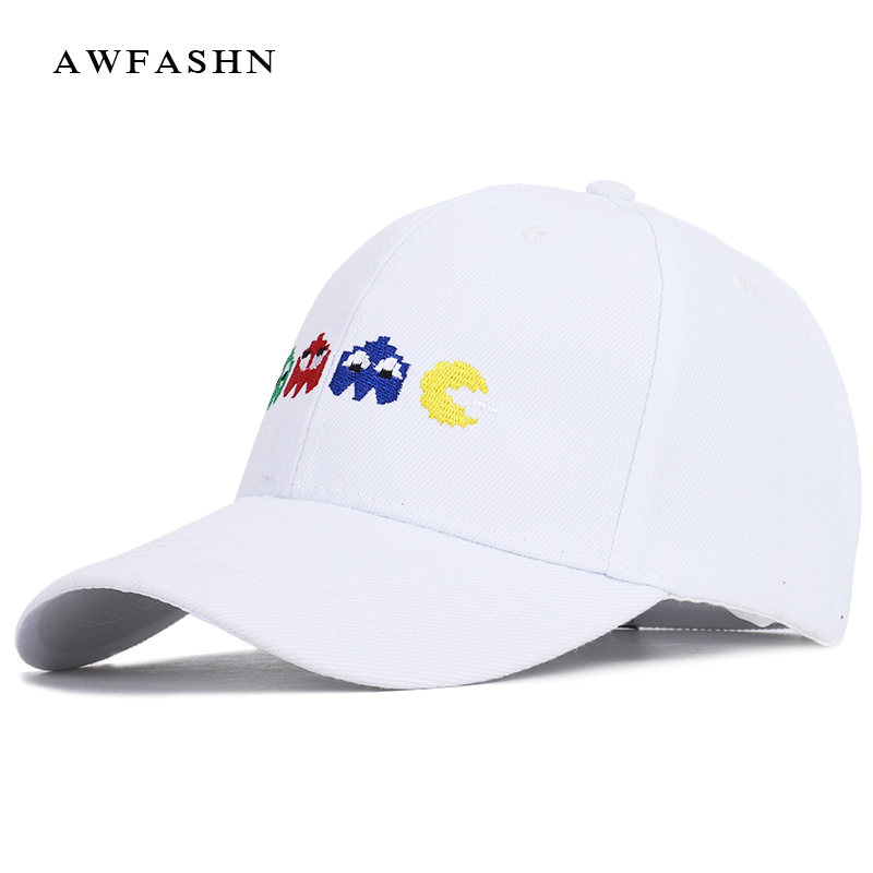 2019 Cartoon Embroidered   Baseball     Cap   High Quality Casual Hat Spring Man Woman PACMAN Game Cotton Sport Adjustable Bone Unisex