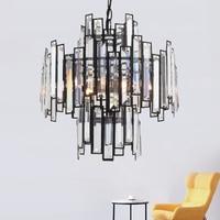 Retro Vintage Crystal Chandelier Lighting Crystal Prism Chandeliers Pendant Hanging Light for Home Hotel Villa Restaurant Decor