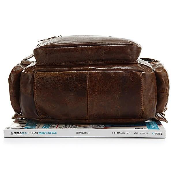 Multifunktionale Rucksack Leder Dark Reisetasche 2751b Brown New Kausal Neuen Fashion Aus Jmd Der Unisex Schultasche Echtem Design Stil 1 qCxA7