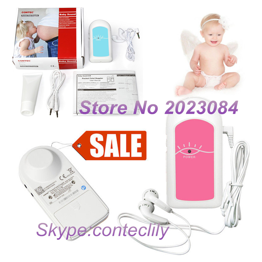 BABY SOUND A Pocket fetal doppler Prenatal Baby Heart Beat Monitor Pink or Blue