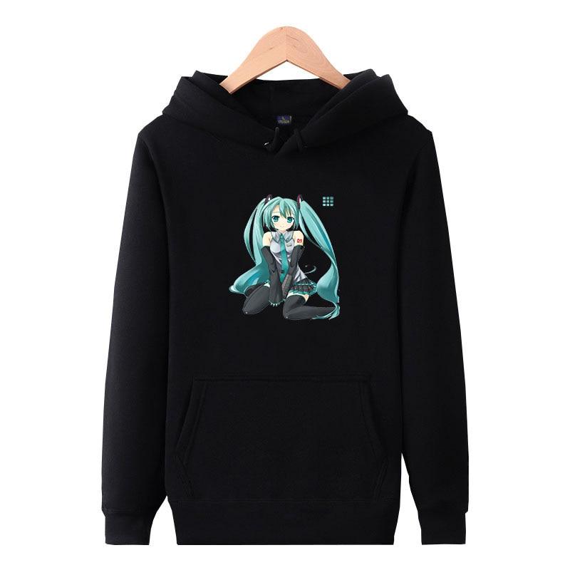 Hatsune Miku Anime Hoodie Sweatshirt Men Women Casual Tops Pullover Coat Jumper