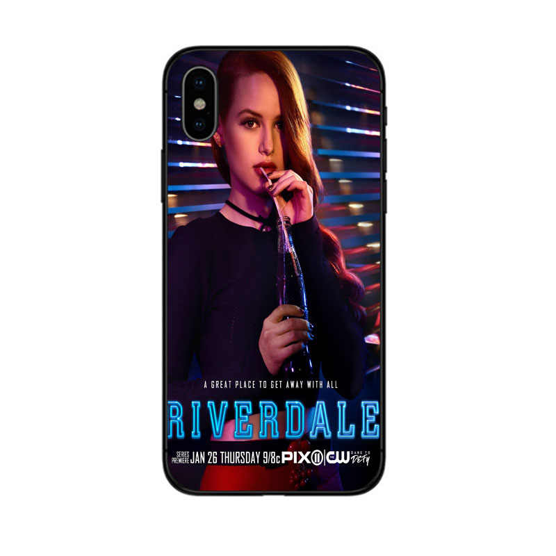 American Riverdale TV Jughead Jones Woz black silicon phone case for iPhone 6 6S 7 8 Plus 5 5S SE X XR XS MAX josie Cheryl cover