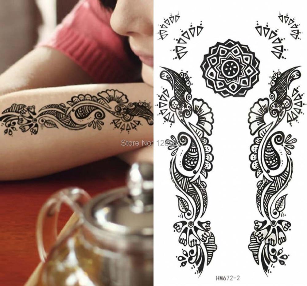 3sheets Waterproof Temporary Tattoo Henna Tattoo Stickers Tatuagem
