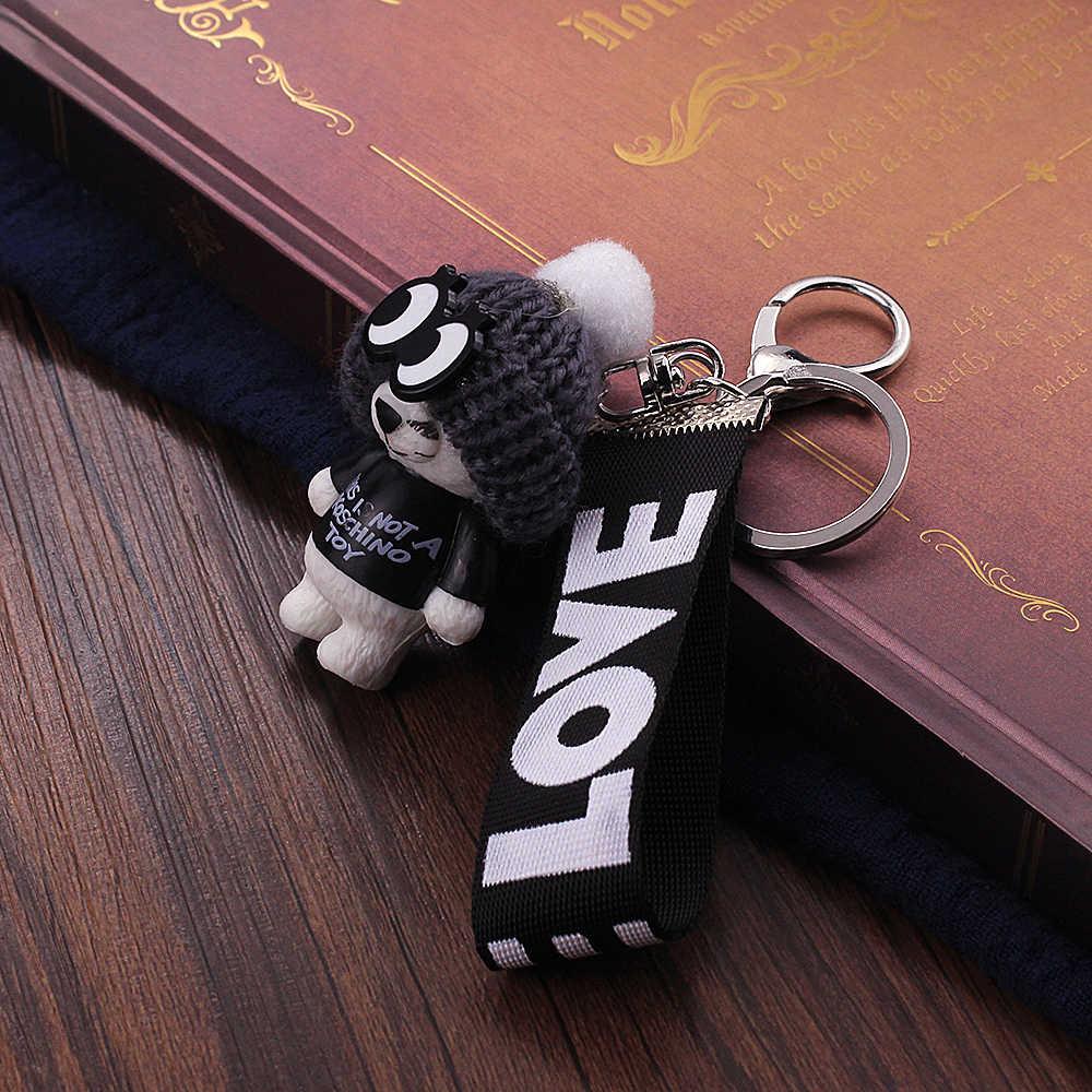 Vicney Новое прибытие милый плюшевый ключ с медведем цепь 'это не KOSCHINO TOY' ключ с медведем цепь животный шаблон ключ держатель для подруги
