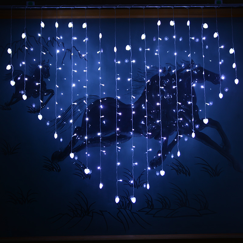 Aliexpresscom Buy 124 led 2x16M Heart led curtian light