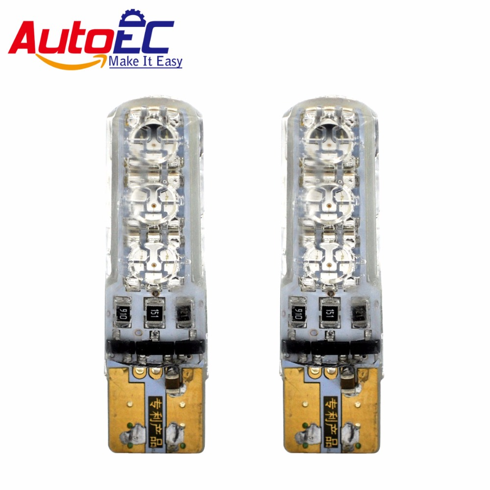 AutoEC 1 set T10 194 168 W5W Wedge Bulbs SILICA 5050 6 SMD LED Light 6 LEDs Strobe Flash 6 Modes Parking Led waterproof lamp