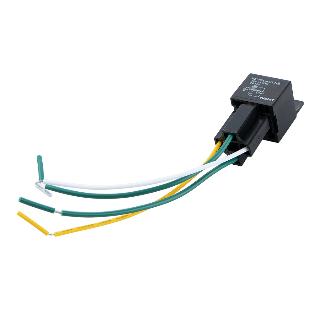1pc Auto Automotive Relay Socket 12volt 40 Amp 4 Pin Wires Prong Pigtail Hkvf4 4c In Relays From Home Improvement On Alibaba Group