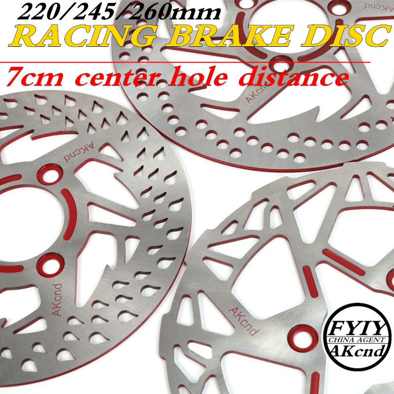 AKcnd motorcycle universal 220/245mm/260mm brake disc smax155 msx125  Front & Rear Brake System