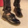 2017 outono e inverno estilo Europeu retro grande estudante mulheres Rodada sapatos de singles tendão sapatos boneca