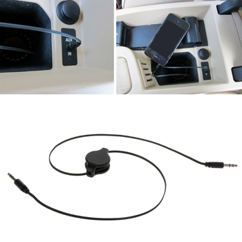 3.5mm Male To Male Auto Car Flexible Aux Auxiliary Stereo Audio Extension Cable image