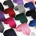 20 стиль бренд шелк шеи галстук для мужчин сплошной черный 8 см тонкий 2015 формальные социальный событие зеленый свадьба платье галстуки мужской красный