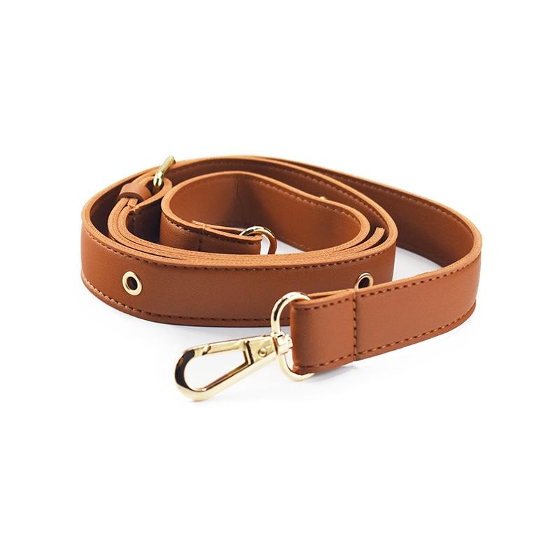 Detachable Strap Replacement Bags Straps Women Girls PU Leather Shoulder Bag Parts Accessories Gold Buckle Belts 152cm TAN