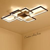 NEO Gleam New Arrival Black White LED Ceiling Chandelier For Living Study Room Bedroom Aluminum Modern