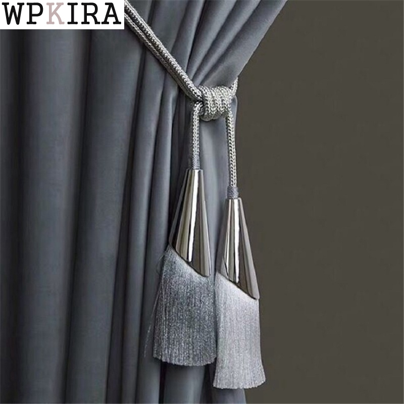 2Pcs/Pair Curtain Brush Tiebacks Tassel Fringe Hanging Belt Balls Curtain Accessories Holderback Tie Backs Lashing Bind A068&20