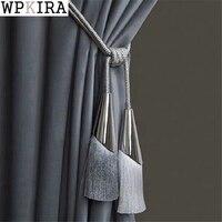 2Pcs/Pair Curtain Brush Tiebacks Tassel Fringe Hanging Belt Balls Curtain Accessories Holderback Tie Backs Lashing Bind A068&20