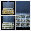 Free Shipping Box Set Rhodium Plated Accessories Beads Caps For Jewelry Making Kit Jump Rings/Clasps/Pins Jewelry Findings DIY