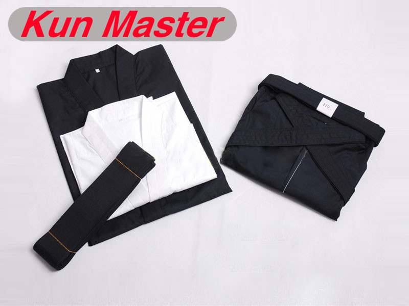 Hakama Martial Arts Apanese Kendo Laido Aikido Hapkido Hakama Martial Arts Uniform Kendogi+Hakama+underwear+belt) black And Blue