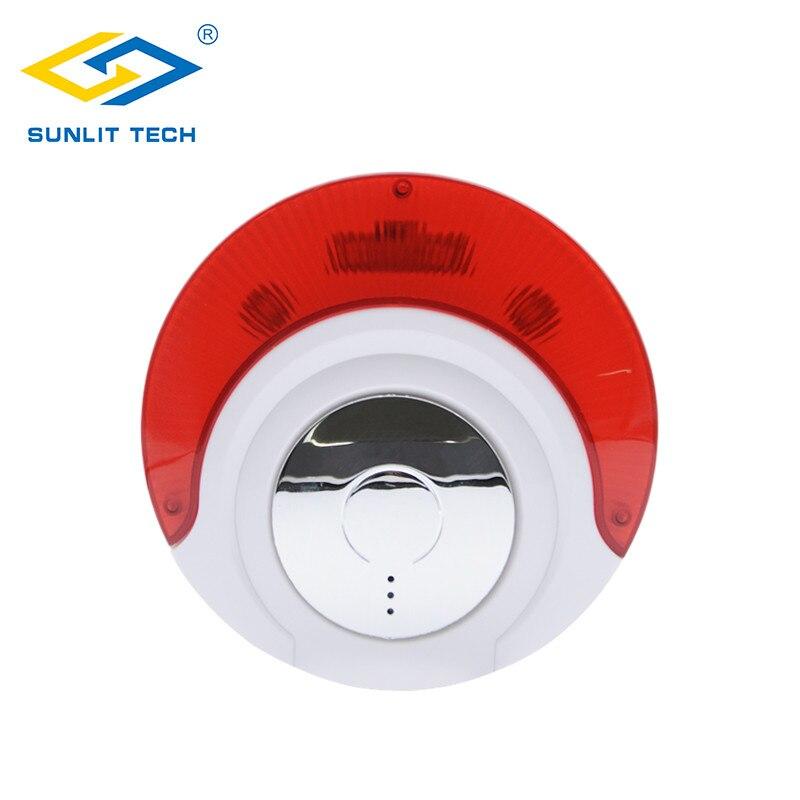 Wireless 433MHz 868MHz Siren Indoor Sound and Flashing Light Siren Alarm System Strobe Siren For Home
