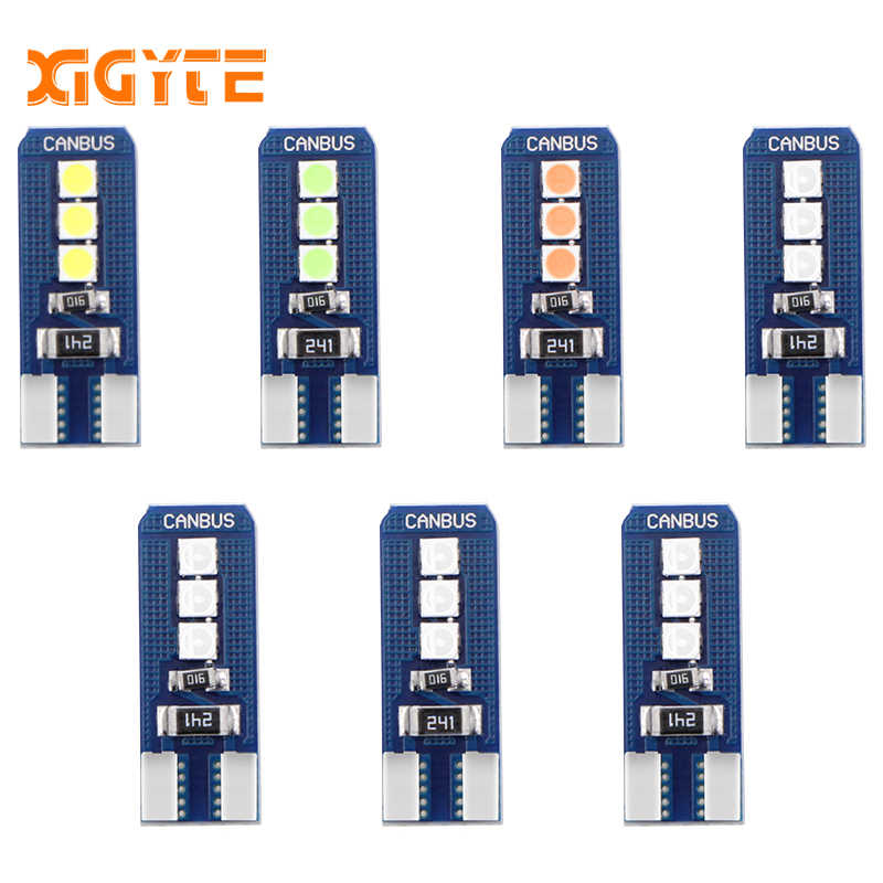 1PCS Car Styling Car Auto LED T10 Canbus 194 W5W 6 SMD 3030 LED Light Bulb No Error LED Light Parking T10 LED Car Side Light