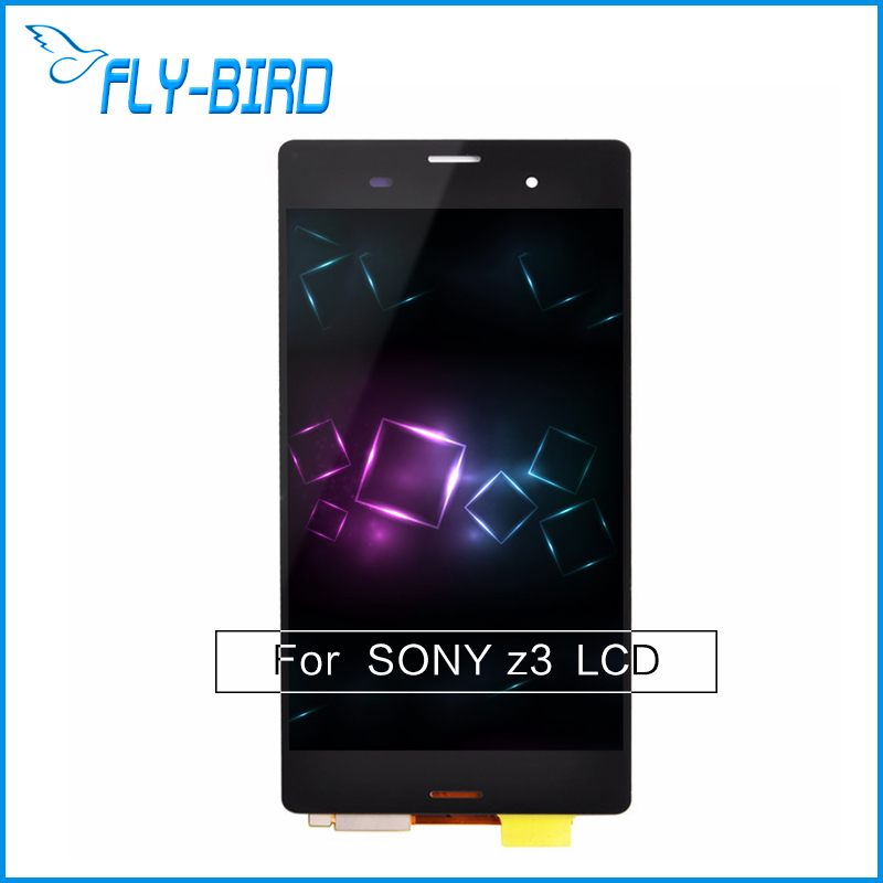 ФОТО For Sony Xperia Z3 LCD Digitizer Display With Touch Screen Assembly + Monochrome black for sale Free shipping
