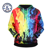 Фотография New Arrival Famous Brand Men Hoodies 3D Fire Design Printing Fashion Sweatshirts 94.4% Polyester 5.6% Spandex Popular Style
