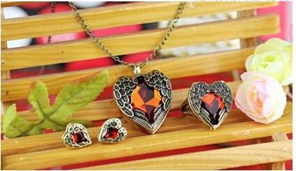 One Set Open Heart Angel Wing Earrings Jewelry