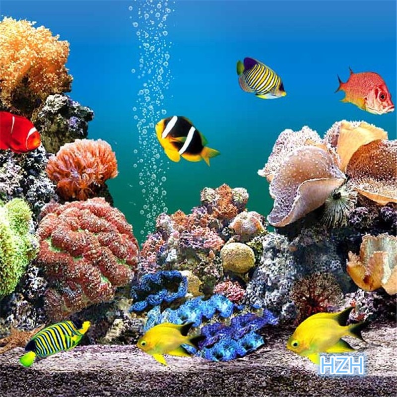beibehang Custom 3d mural wallpaper TV bedroom sofa background Cartoon fish underwater world 3d photo wallpaper papel de parede free shipping personalized fashion figure puzzle 3d wallpaper salon bedroom wallpaper background bar ktv mural